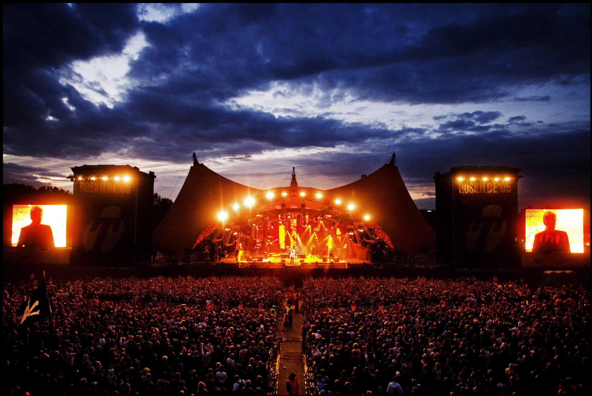 Roskildefestival i gummistøvler